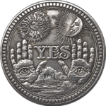 YES NO Open Hands Angel of Death Coin