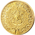 Mayan Calendar Gold Coin 2012 Commemorative TWO COIN PACK