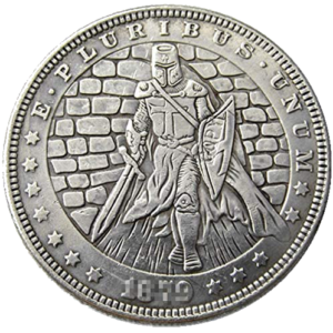 Templar Knight 1879 Morgan Dollar Replica Coin