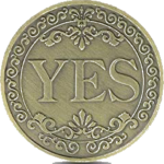 YES NO Coin