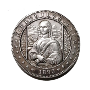 Mona Lisa 1895 Morgan Dollar Replica Coin