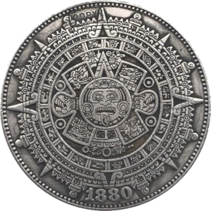 Mayan Calendar 1880 Morgan Dollar Replica Coin