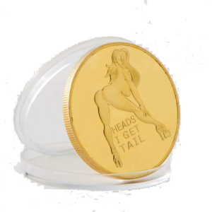 Heads I Get Tail Tails I Get Head Sex Challenge Gold Coin Sexy Girl