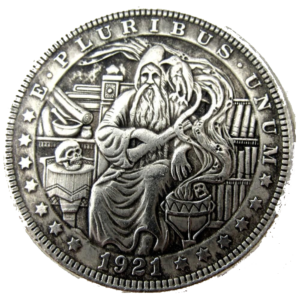 Wizard 1921 Morgan Dollar Replica Coin